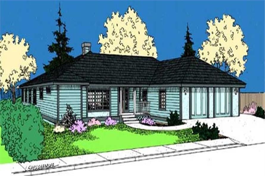 Main image for house plan # 9094