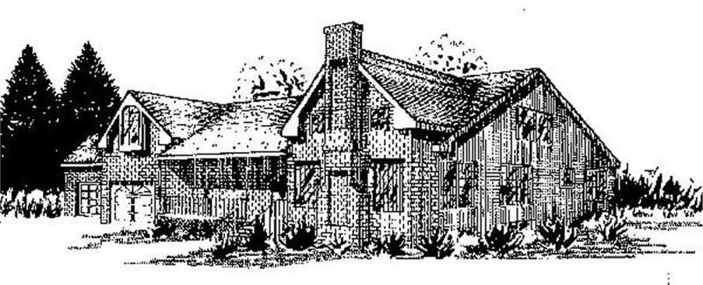 Contemporary home (ThePlanCollection: Plan #145-2037)