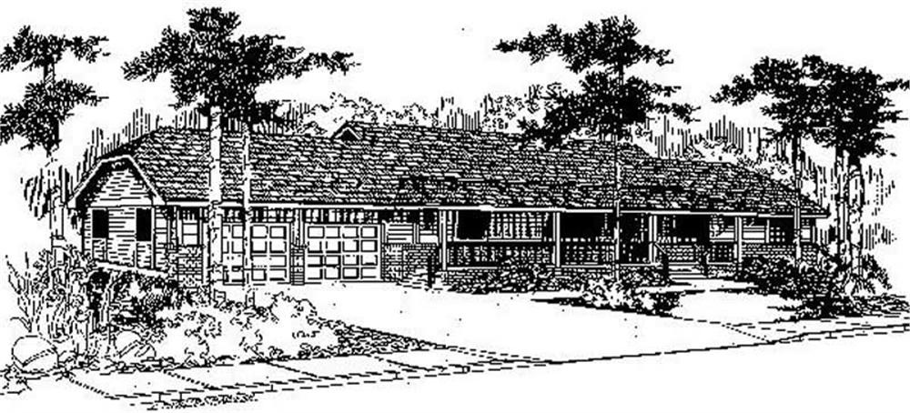 Ranch home (ThePlanCollection: Plan #145-2038)