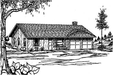 2-Bedroom, 1283 Sq Ft Small House Plans - 145-2039 - Front Exterior