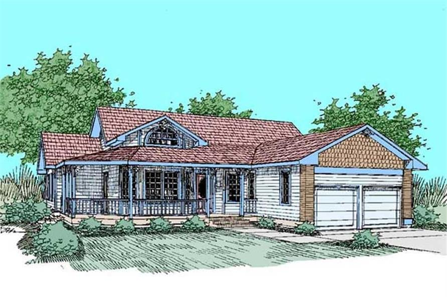 3-Bedroom, 2125 Sq Ft Prairie House Plan - 145-2042 - Front Exterior