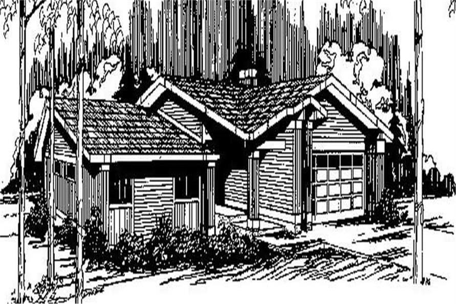Main image for house plan # 8884