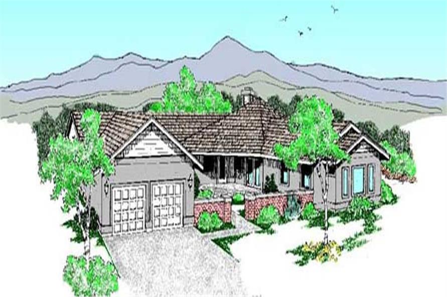 Ranch home (ThePlanCollection: Plan #145-2047)