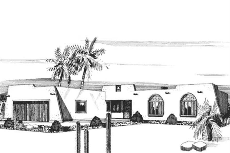 3-Bedroom, 1386 Sq Ft Small House Plans - 146-1012 - Front Exterior