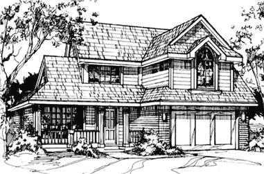 3-Bedroom, 2285 Sq Ft Country Home Plan - 146-1014 - Main Exterior