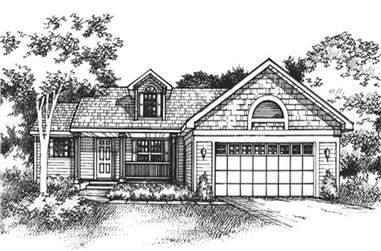 2-Bedroom, 1490 Sq Ft Country Home Plan - 146-1018 - Main Exterior