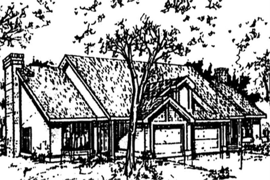 This image shows the Country/Ranch/Multi-Unit Style of this set of house plans.