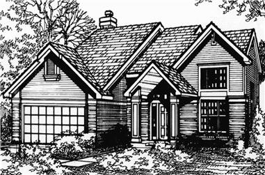 3-Bedroom, 1896 Sq Ft Country Home Plan - 146-1029 - Main Exterior