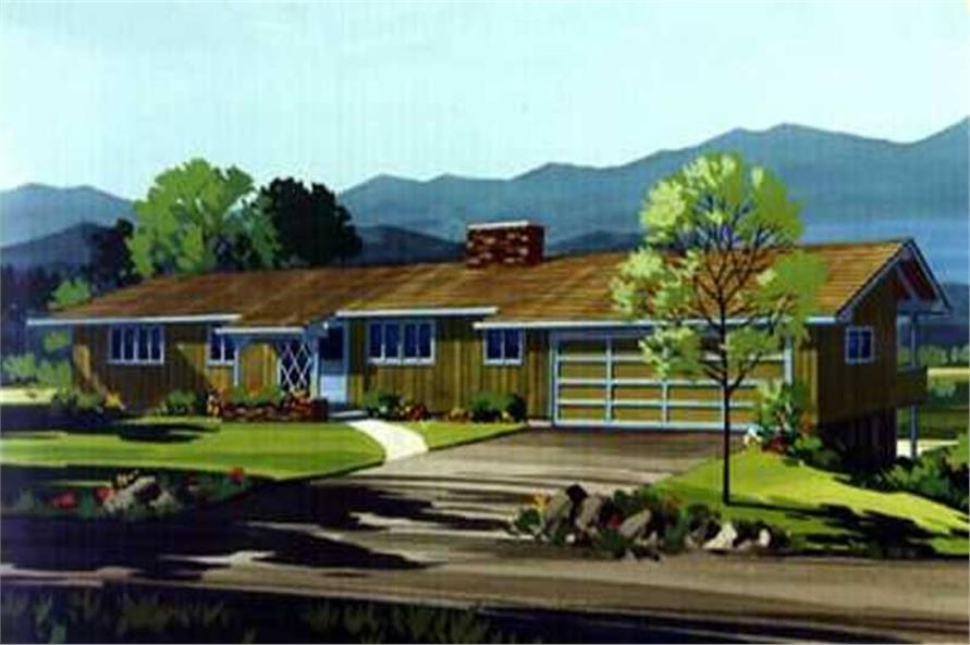 3-Bedroom, 2392 Sq Ft Ranch Home Plan - 146-1031 - Main Exterior