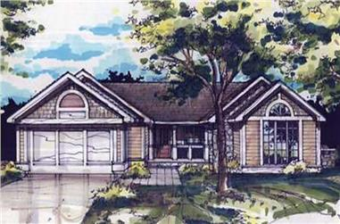 2-Bedroom, 1338 Sq Ft Country Home Plan - 146-1032 - Main Exterior
