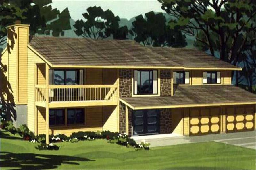 Color Rendering to this house design.