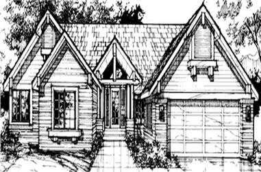 4-Bedroom, 2847 Sq Ft Country House Plan - 146-1036 - Front Exterior