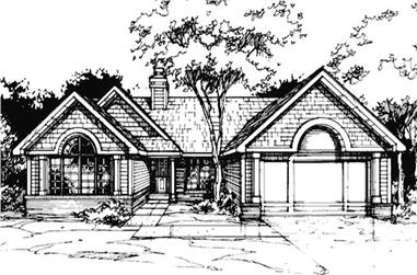 3-Bedroom, 1847 Sq Ft Country House Plan - 146-1040 - Front Exterior