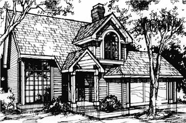 3-Bedroom, 1841 Sq Ft Country House Plan - 146-1043 - Front Exterior