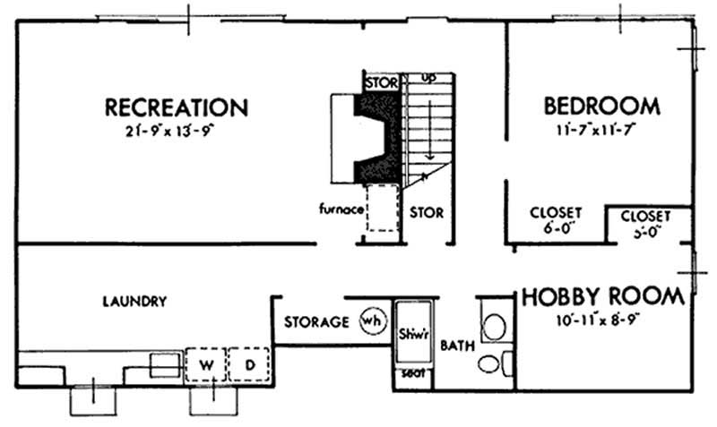 Ranch house plans home design ls h 2010 1 - House plans one story with basement collection ...