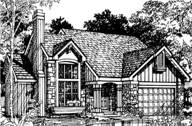 2-Bedroom, 1894 Sq Ft Country Home Plan - 146-1046 - Main Exterior