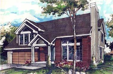 3-Bedroom, 1873 Sq Ft Country Home Plan - 146-1049 - Main Exterior