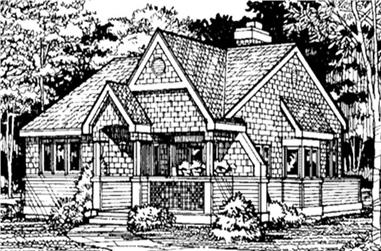 2-Bedroom, 1199 Sq Ft Country House Plan - 146-1050 - Front Exterior
