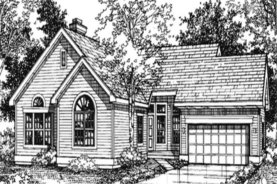Country Houseplans LS-B-91023 front elevation.