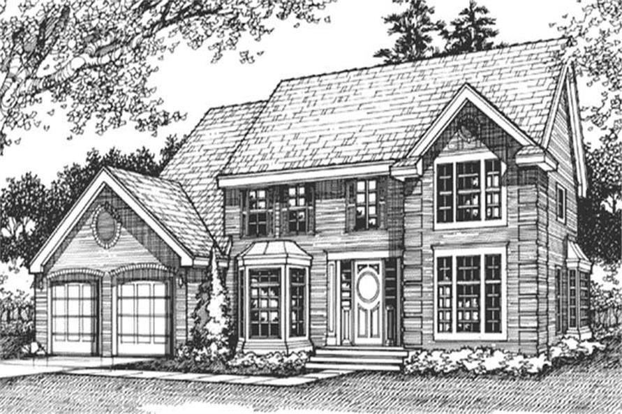 Country Homeplans front elevation LS-B-89502.