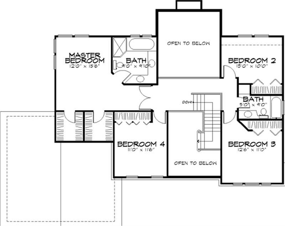 Large images for house plan 146 1054 for Second story floor plan