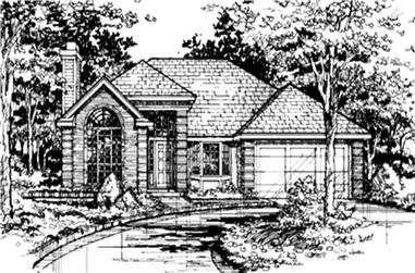 2-Bedroom, 1431 Sq Ft Country Home Plan - 146-1057 - Main Exterior