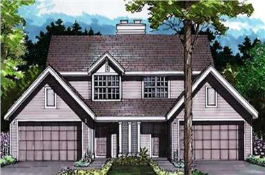 3-Bedroom, 1434 Sq Ft Country Home Plan - 146-1061 - Main Exterior