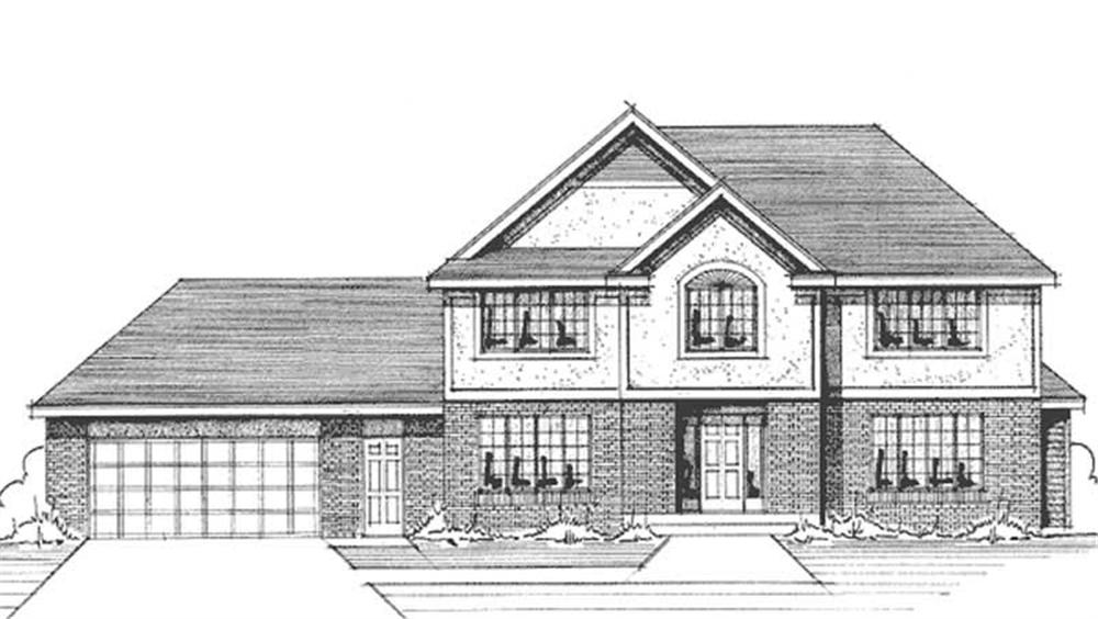 House plans with front view escortsea for Front view house plans