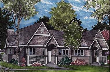 2-Bedroom, 1191 Sq Ft Country Home Plan - 146-1063 - Main Exterior