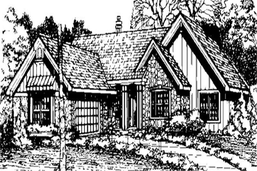Ranch Houseplans LS-B-91005 front elevation.