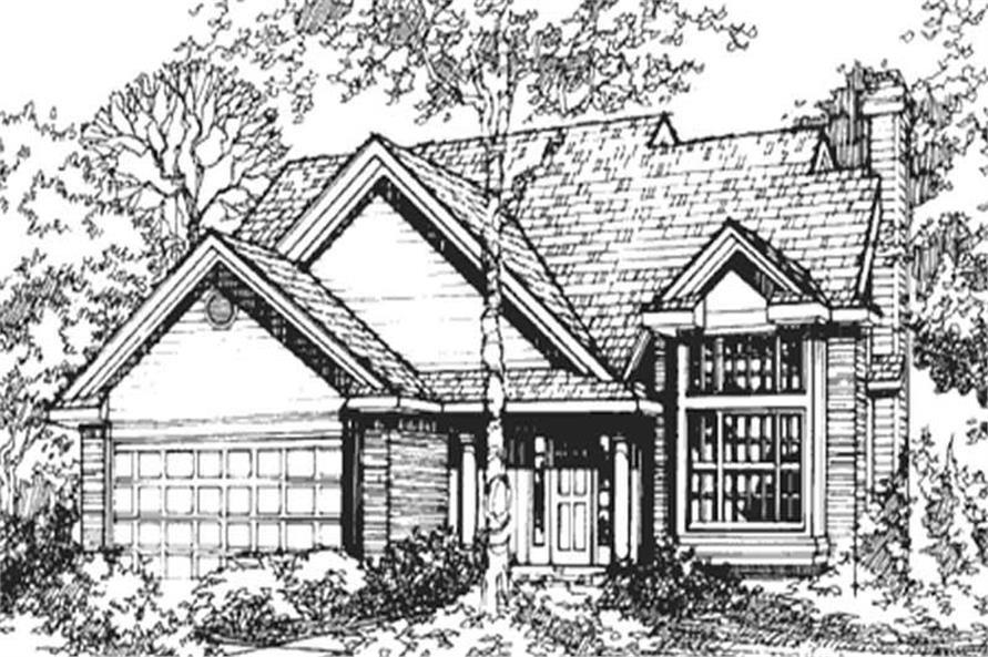 Front Elevation of Country Homeplans LS-B-91004.