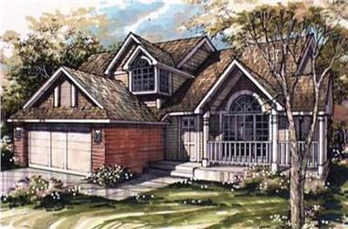 3-Bedroom, 2047 Sq Ft Country House Plan - 146-1070 - Front Exterior