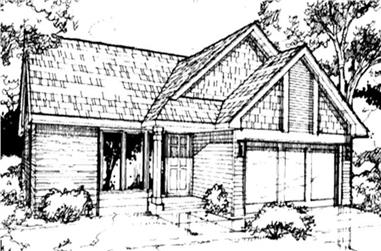 2-Bedroom, 1238 Sq Ft Country Home Plan - 146-1071 - Main Exterior