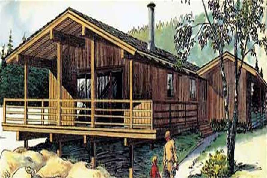 This is a colored rendering of Vacation House Plans LS-H-18-A.