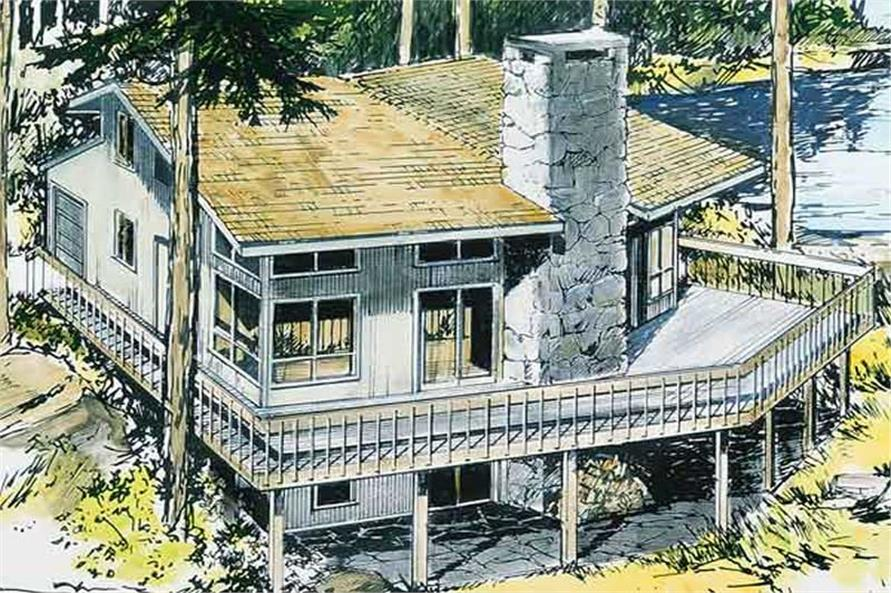 3-Bedroom, 2841 Sq Ft Vacation Homes House Plan - 146-1083 - Front Exterior