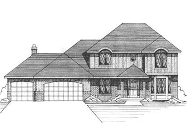 3-Bedroom, 2309 Sq Ft Contemporary Home Plan - 146-1085 - Main Exterior