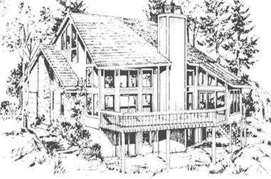 3-Bedroom, 1910 Sq Ft Cape Cod House Plan - 146-1091 - Front Exterior