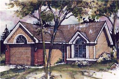 2-Bedroom, 1344 Sq Ft Country House Plan - 146-1097 - Front Exterior