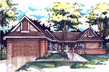 3-Bedroom, 2545 Sq Ft Country Home Plan - 146-1099 - Main Exterior