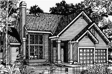 2-Bedroom, 1894 Sq Ft Cape Cod Home Plan - 146-1103 - Main Exterior