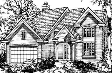 3-Bedroom, 1896 Sq Ft Country House Plan - 146-1104 - Front Exterior