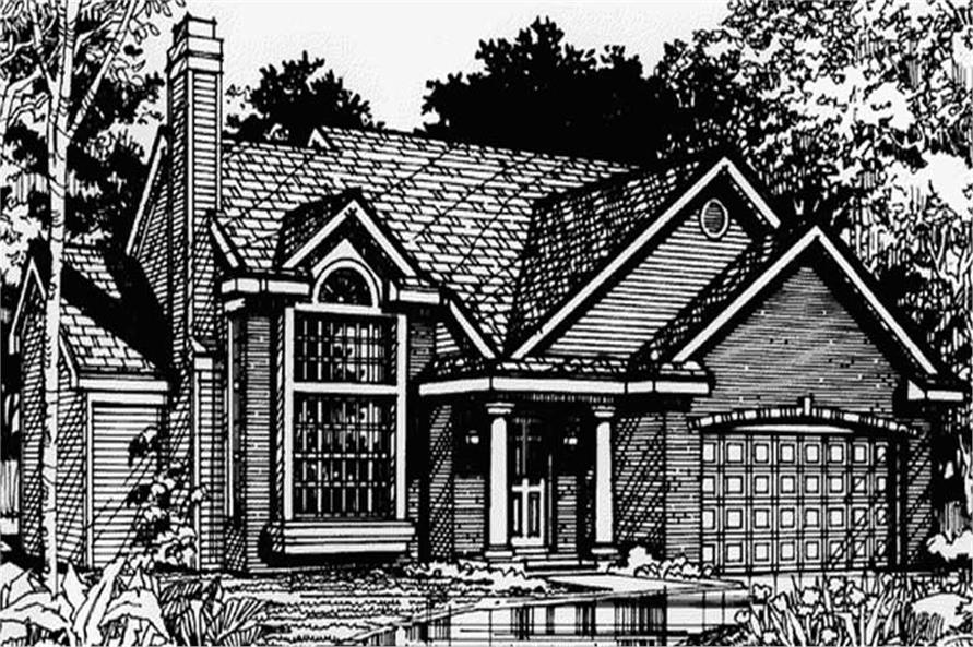 Country Home Plans LS-B-90049 Front Elevation Rendering.
