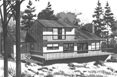 3-Bedroom, 2720 Sq Ft Cape Cod Home Plan - 146-1109 - Main Exterior