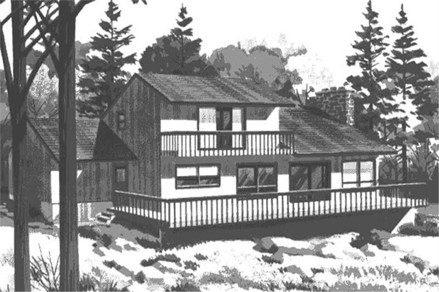 Rear View of this house plan