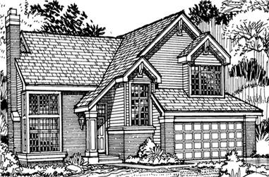 3-Bedroom, 2415 Sq Ft Country Home Plan - 146-1115 - Main Exterior