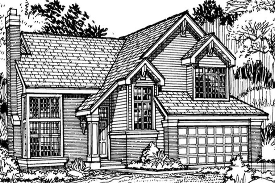 Country Home Plans LS-B-90046 Front Elevation Image.