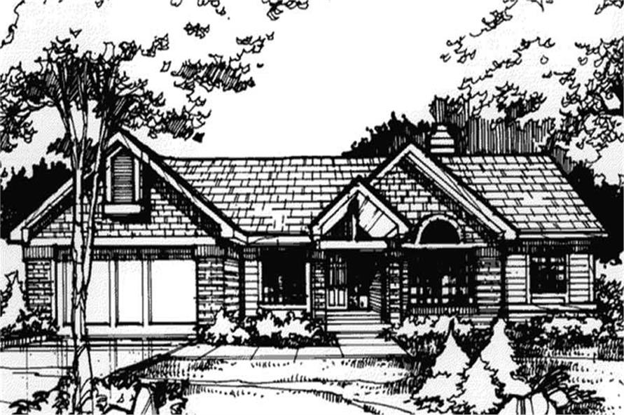 4-Bedroom, 2489 Sq Ft Country Home Plan - 146-1118 - Main Exterior