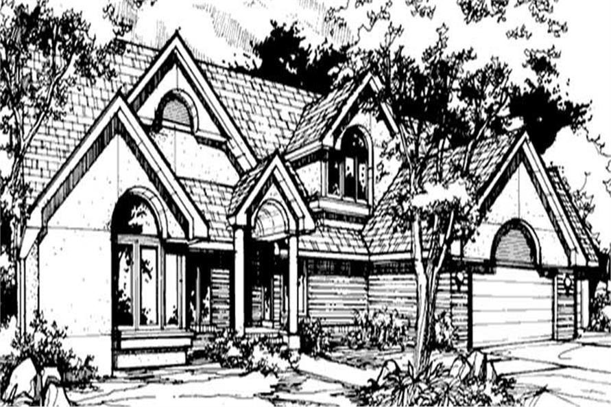 House Plans front elevation.