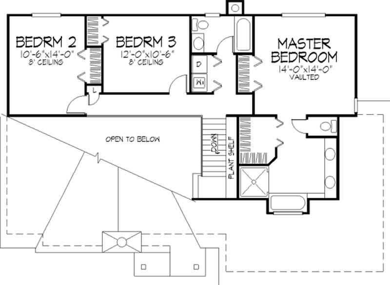 House plans ls b 88069 for 1120 westchester place floor plan