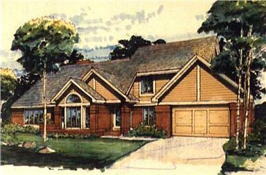 3-Bedroom, 3102 Sq Ft Cape Cod Home Plan - 146-1121 - Main Exterior